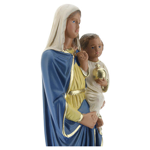 Vierge à l'Enfant 20 cm statue plâtre peinte à la main Barsanti 2