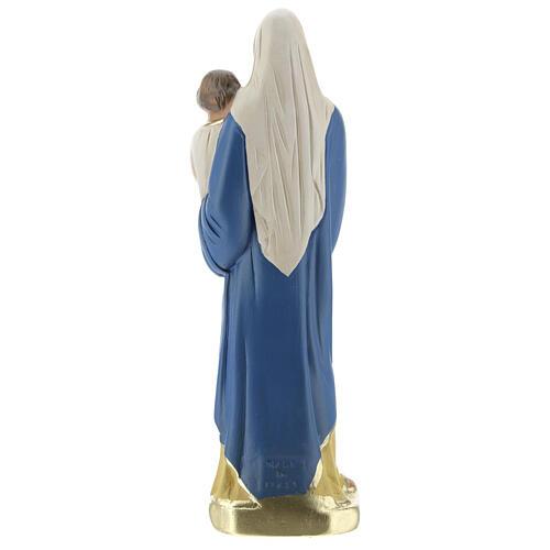 Vierge à l'Enfant 20 cm statue plâtre peinte à la main Barsanti 5