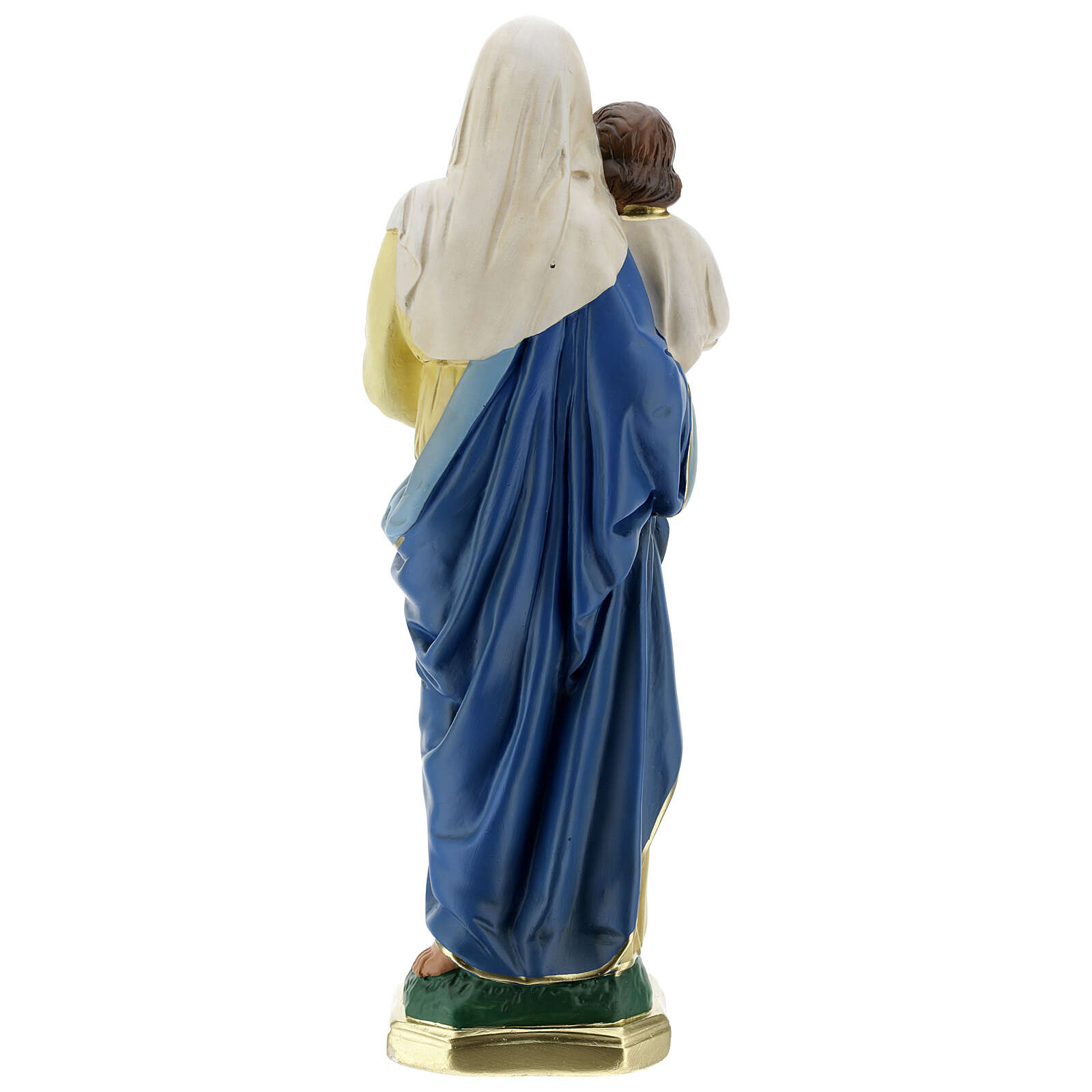 Virgen Niño estatua yeso 40 cm coloreada a mano Barsanti 4