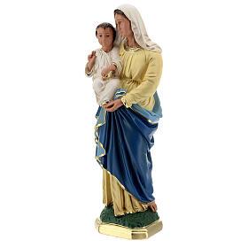 Virgen Niño estatua yeso 40 cm coloreada a mano Barsanti s9