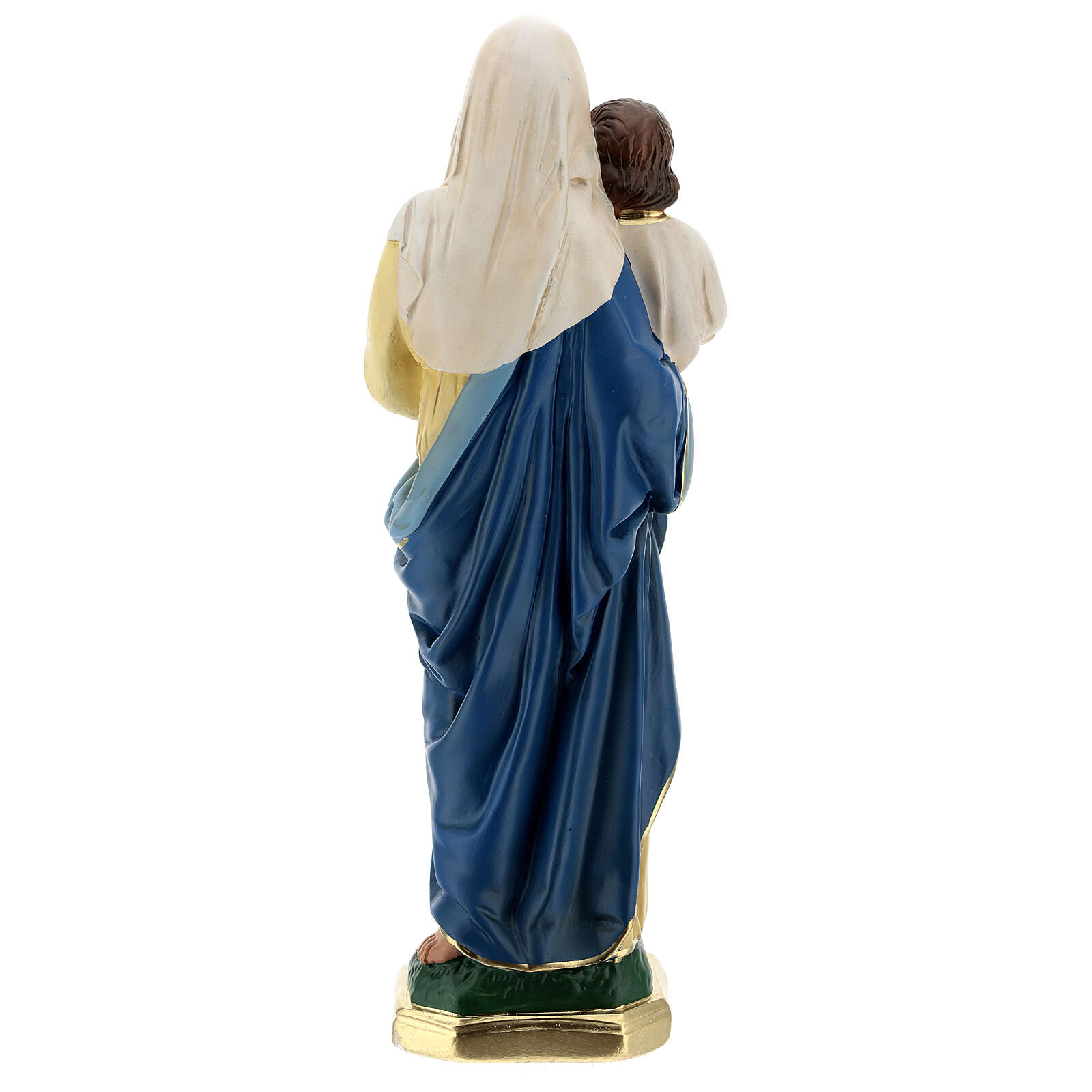 Madonna and Child plaster statue, 40 cm hand painted Barsanti 4