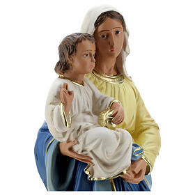 Madonna and Child plaster statue, 40 cm hand painted Barsanti s4