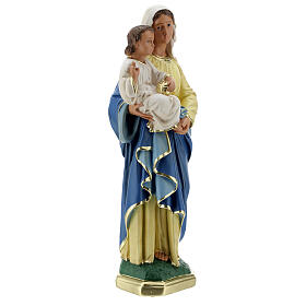 Madonna and Child plaster statue, 40 cm hand painted Barsanti s5