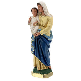 Madonna and Child plaster statue, 40 cm hand painted Barsanti s9