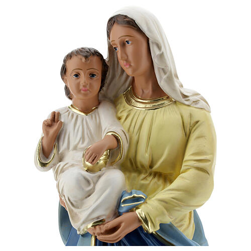 Madonna and Child plaster statue, 40 cm hand painted Barsanti 2