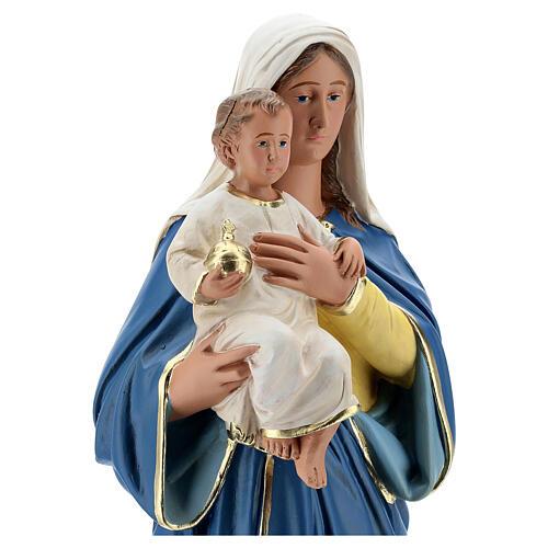 Estatua Virgen con Niño 50 cm yeso pintada a mano Barsanti 4