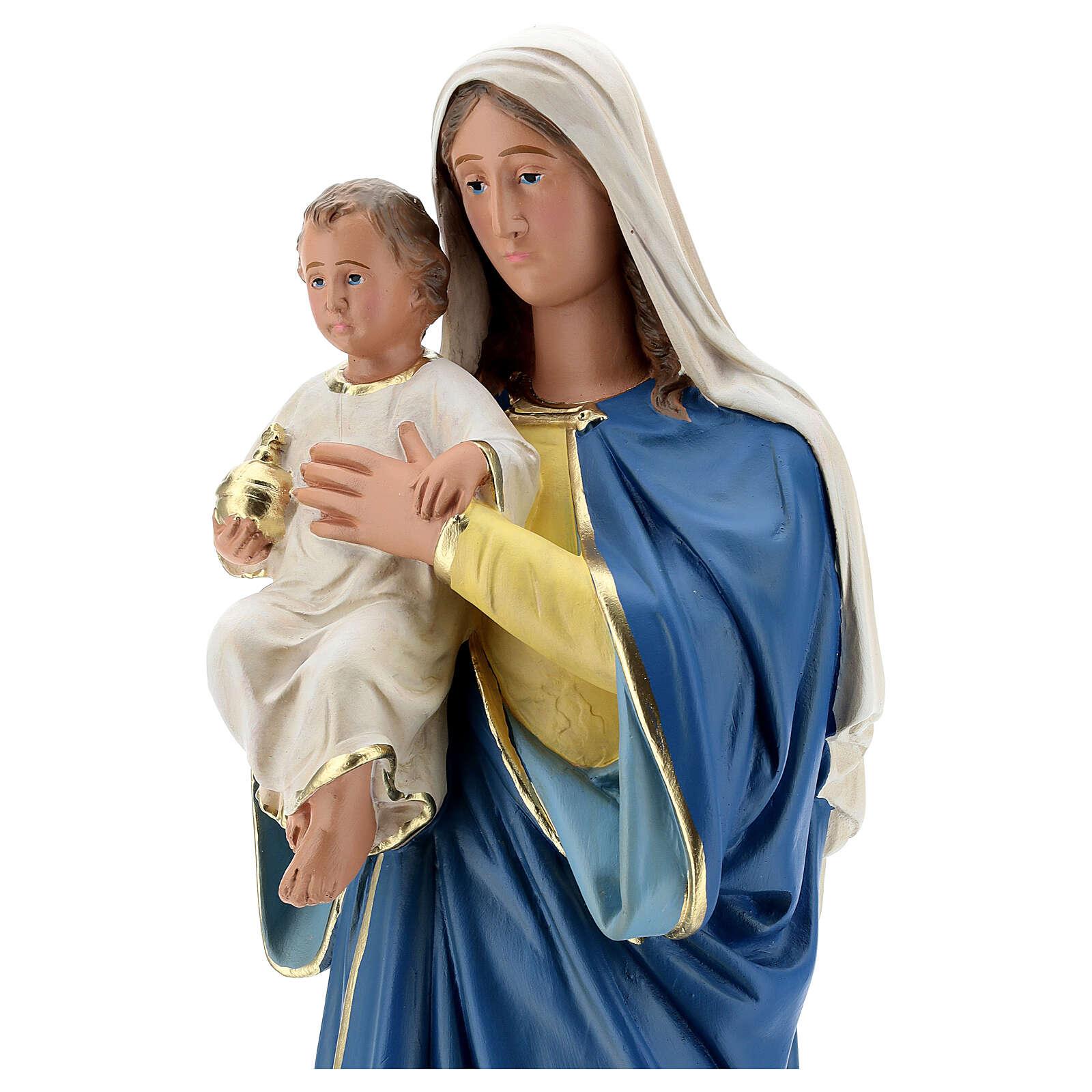 Statua Madonna con Bambino 50 cm gesso dipinta a mano Barsanti 4