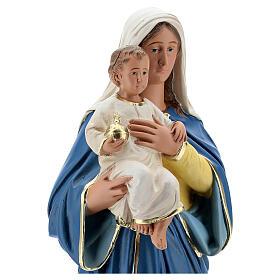 Statua Madonna con Bambino 50 cm gesso dipinta a mano Barsanti s4