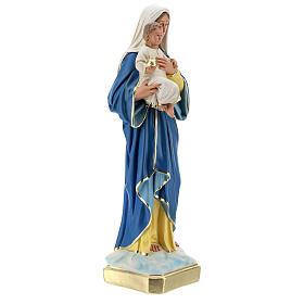Statua Madonna con Bambino 50 cm gesso dipinta a mano Barsanti s5