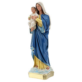 Virgin Mary statue with Child, 50 cm hand painted plaster Barsanti s3
