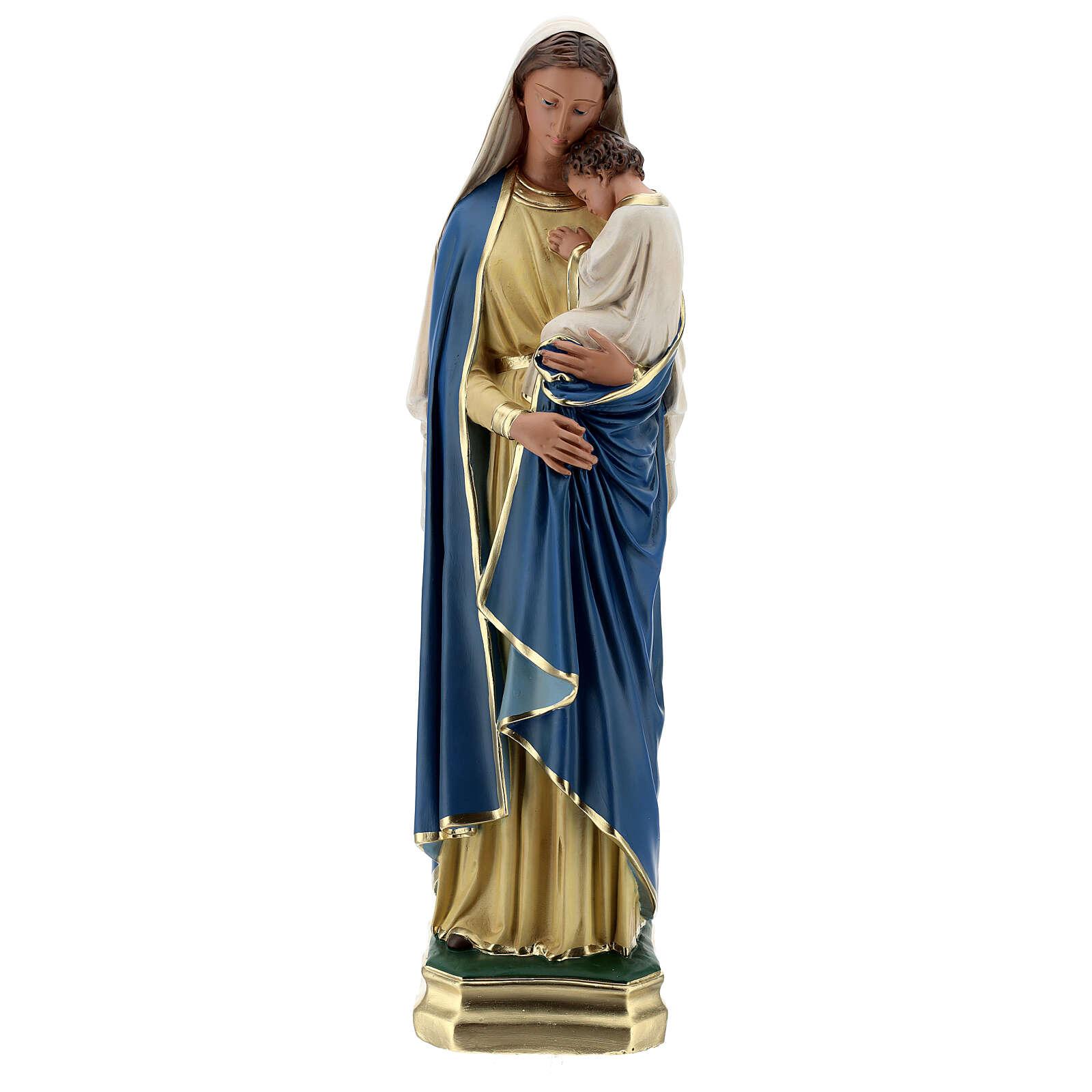 Virgen con Niño estatua yeso 60 cm pintada a mano Barsanti 4