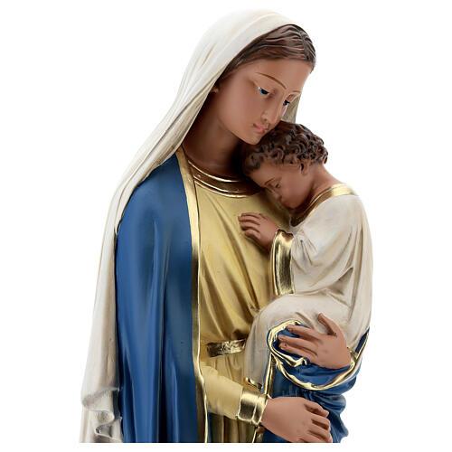 Virgen con Niño estatua yeso 60 cm pintada a mano Barsanti 2