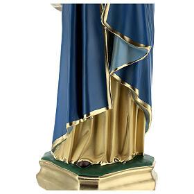 Madonna col Bambino statua gesso 60 cm dipinta a mano Barsanti s6