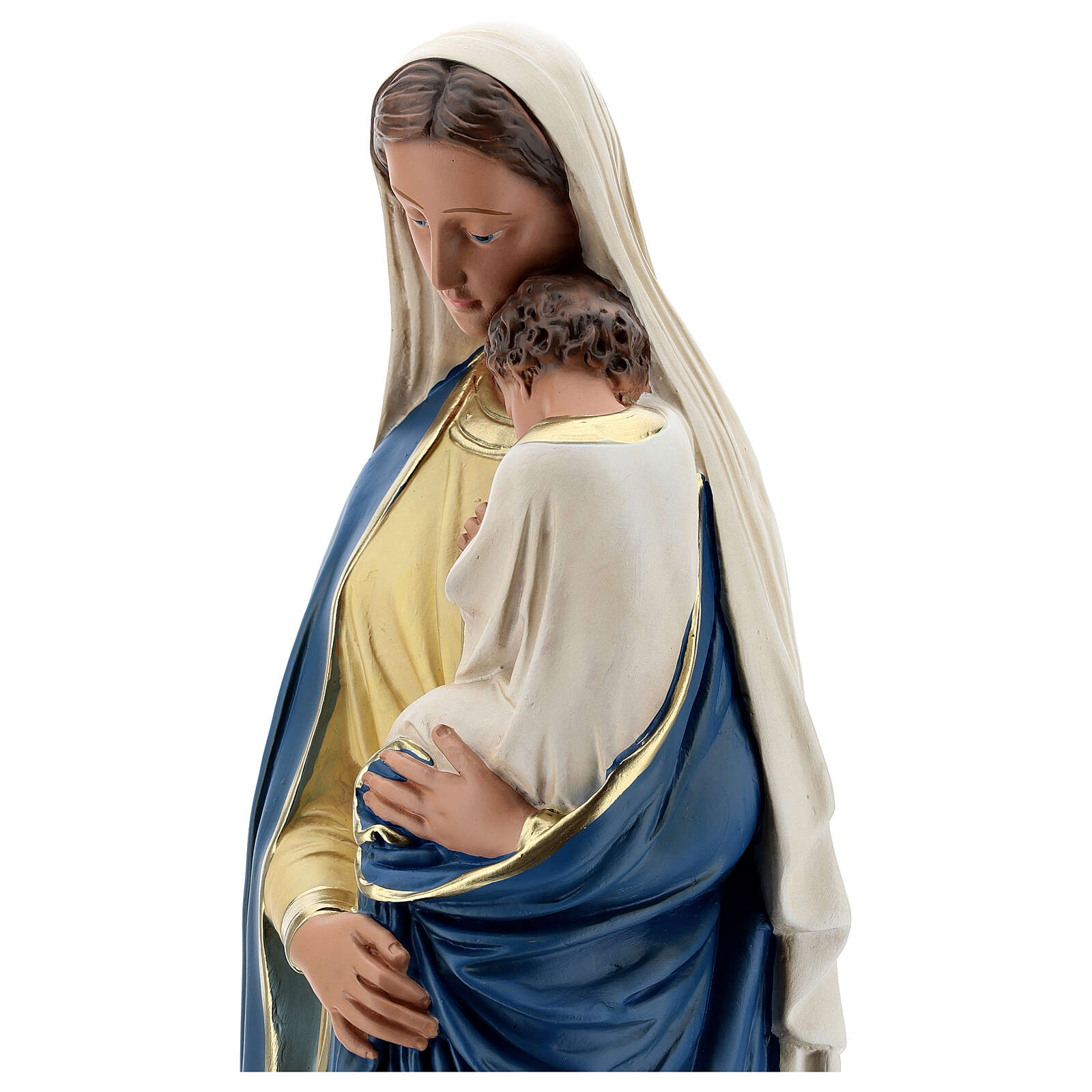 Madonna and Child statue, 60 cm hand painted plaster Barsanti 4