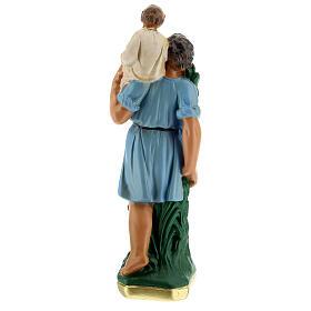 Saint Christophe statue plâtre 20 cm peint main Arte Barsanti s4