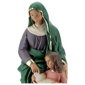 Statue plâtre Sainte Anne 30 cm peinte à la main Arte Barsanti s2