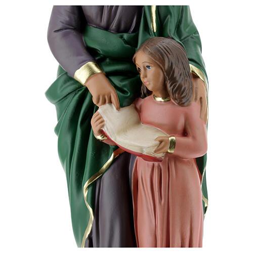Statue plâtre Sainte Anne 30 cm peinte à la main Arte Barsanti 4
