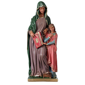 Statue Sainte Anne plâtre 40 cm peinte main Arte Barsanti s1