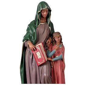 Statue Sainte Anne plâtre 40 cm peinte main Arte Barsanti s2