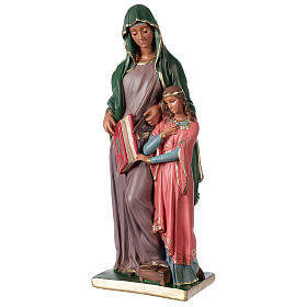 Statue Sainte Anne plâtre 40 cm peinte main Arte Barsanti s3
