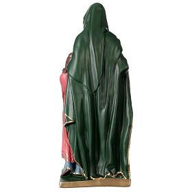 Statue Sainte Anne plâtre 40 cm peinte main Arte Barsanti s5
