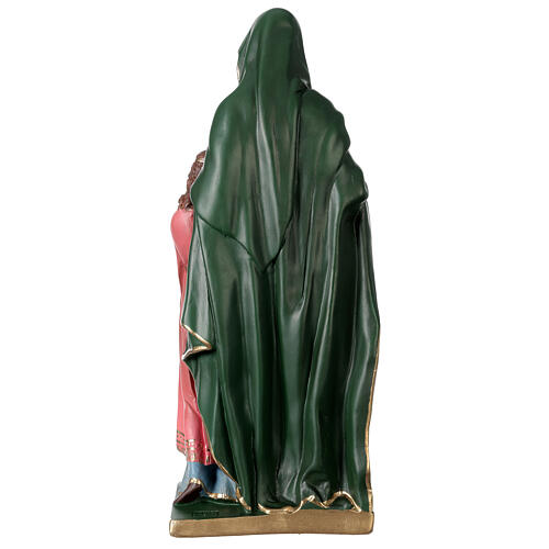 Statue Sainte Anne plâtre 40 cm peinte main Arte Barsanti 5