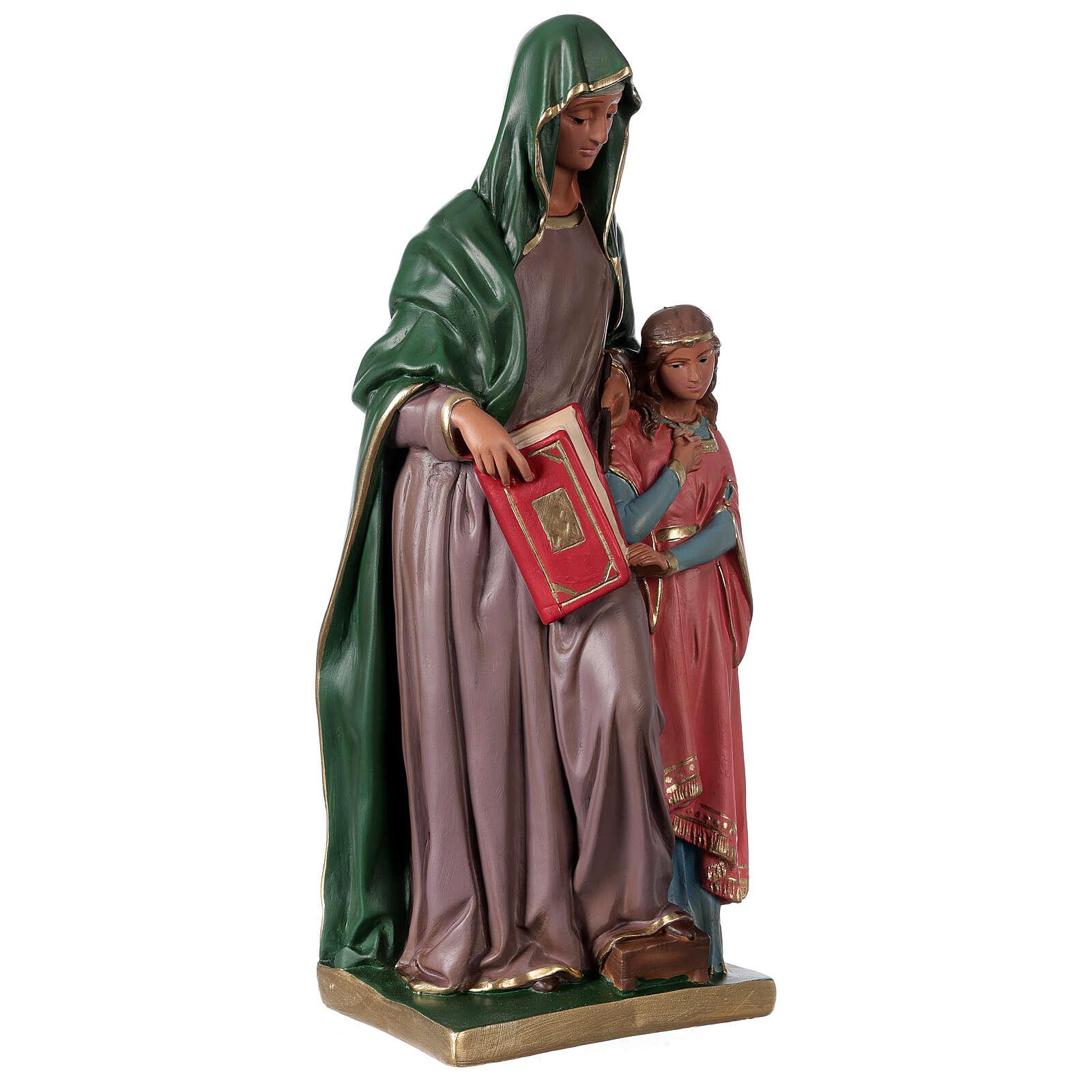 Statua Sant'Anna gesso 40 cm dipinta a mano Arte Barsanti 4