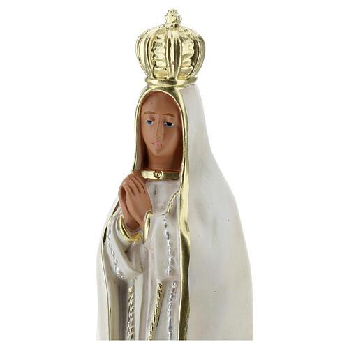 Virgen Fátima estatua yeso 20 cm pintura a mano Barsanti
