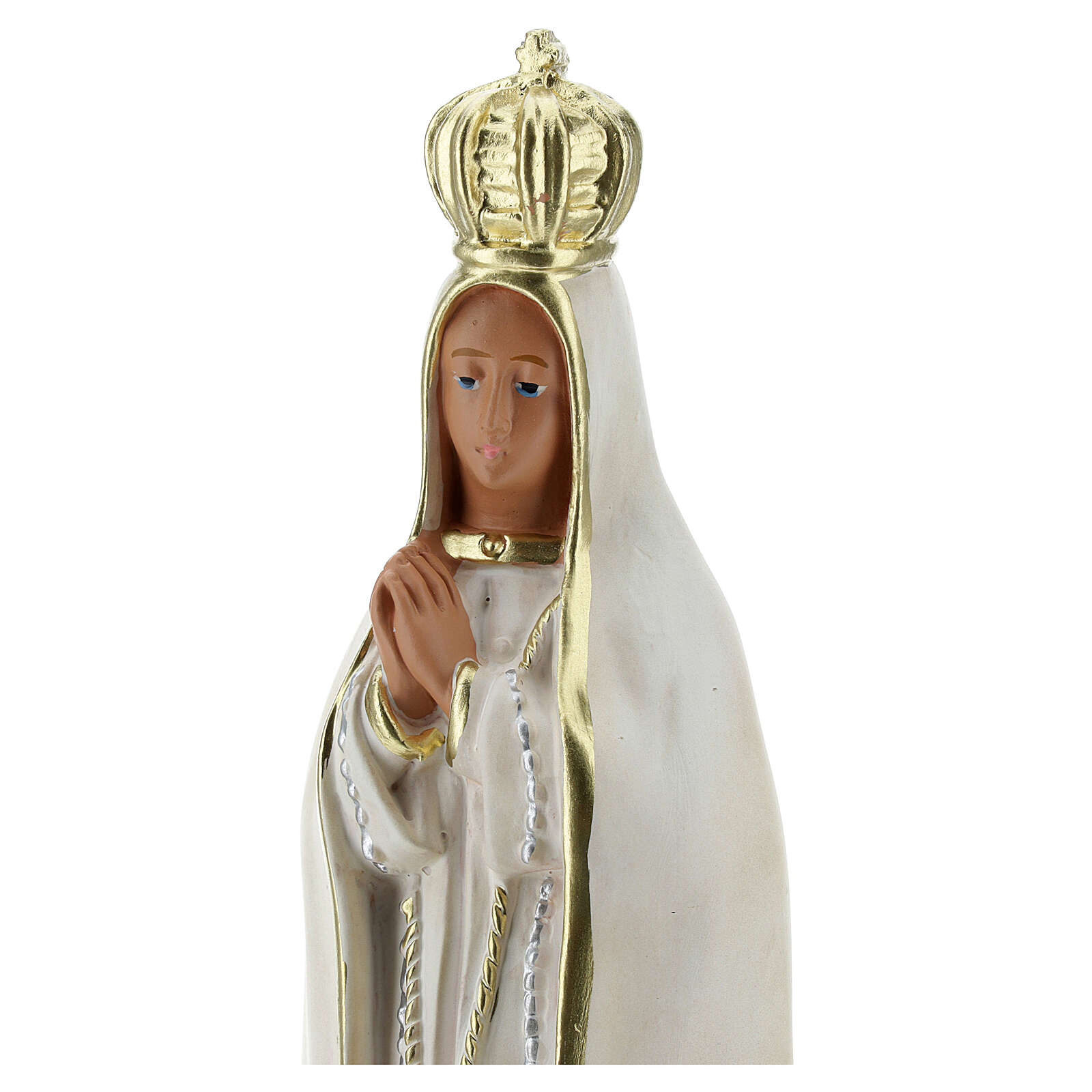 Our Lady of Fatima statue, 20 cm in hand painted plaster Arte Barsanti 4