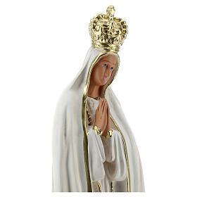 Nossa Senhora de Fátima 25 cm imagem gesso corado à mão Barsanti