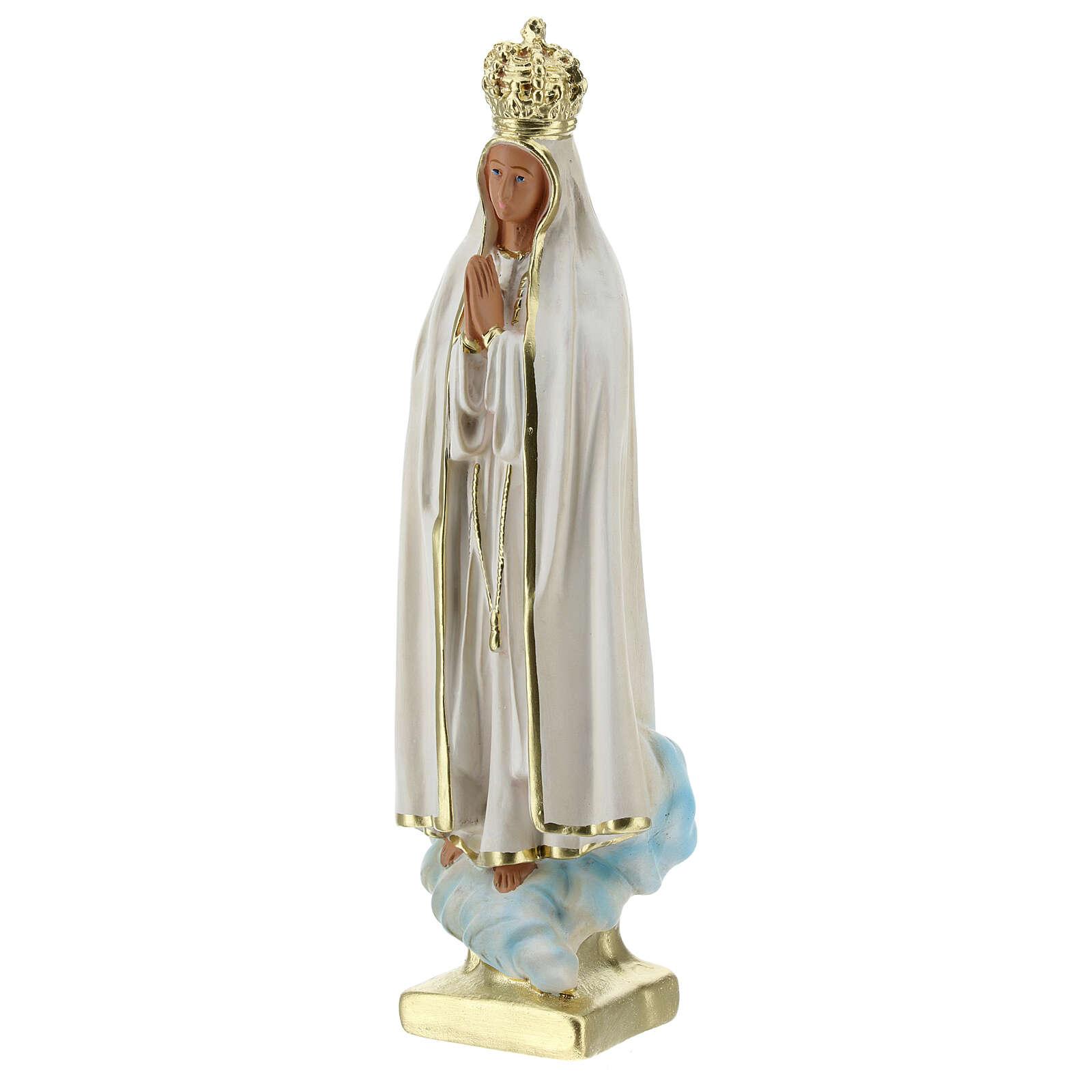 Lady of Fatima statue, 25 cm in hand painted plaster Arte Barsanti 4