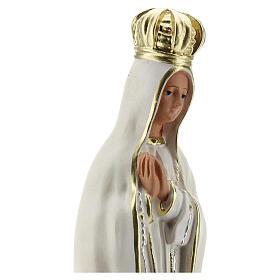 Statua Madonna Fatima gesso 30 cm dipinta a mano Barsanti s4
