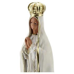 Nossa Senhora de Fátima imagem de gesso pintada à mão Arte Barsanti 30 cm