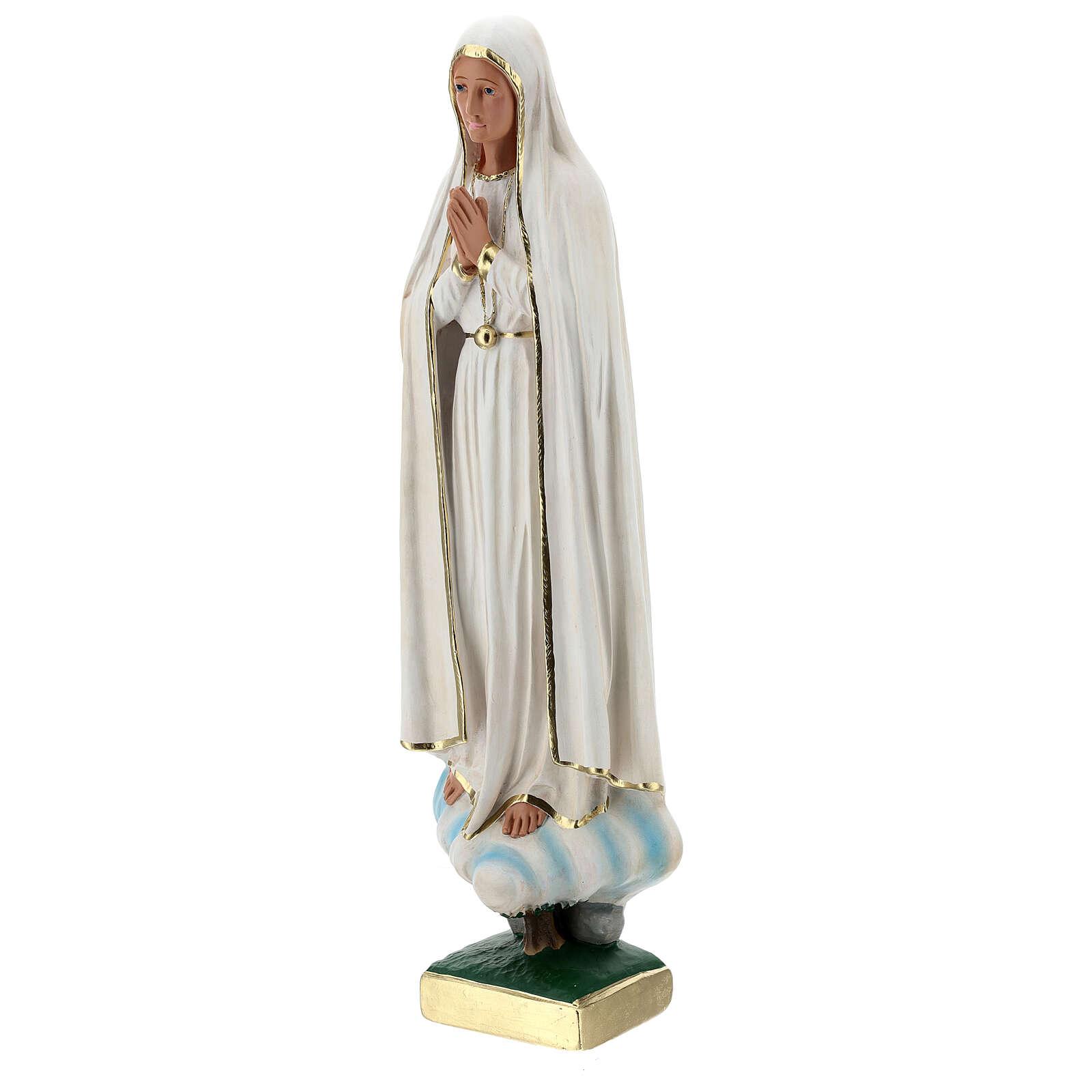 Estatua yeso Virgen Fátima 60 cm sin corona Barsanti 4