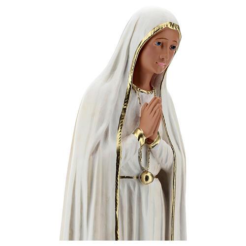 Estatua yeso Virgen Fátima 60 cm sin corona Barsanti