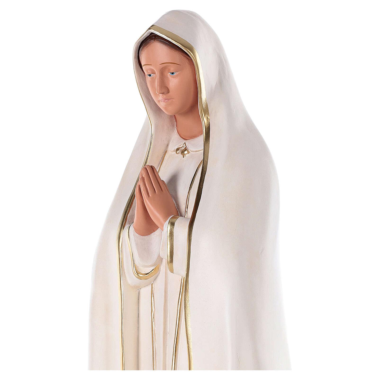 Estatua Virgen de Fátima 80 cm yeso pintado a mano Barsanti 4