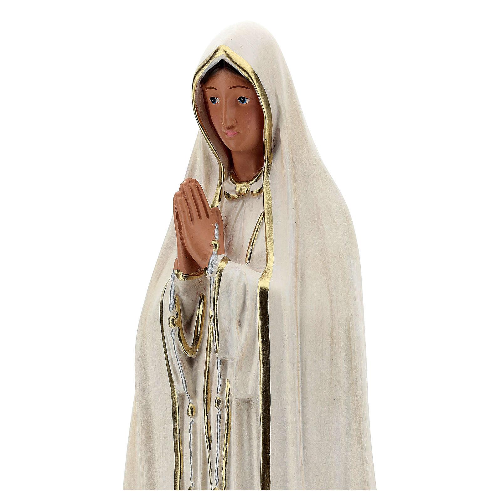 Virgen Fátima 60 cm resina sin corona pintada Arte Barsanti 4