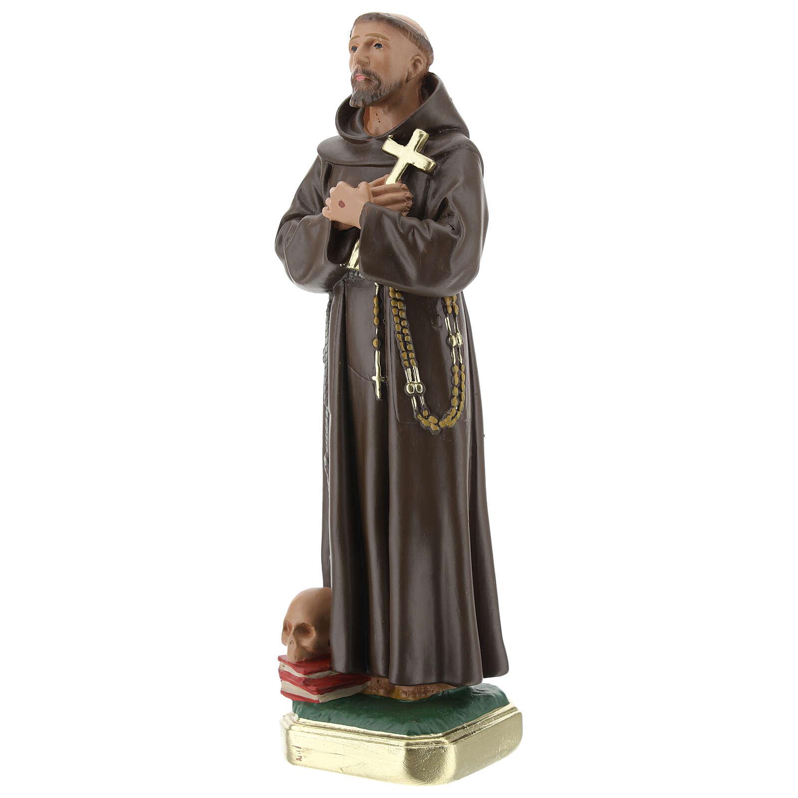 St. Francis of Assisi plaster statue 20 cm hand painted Arte Barsanti 4