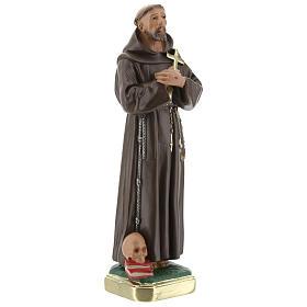 Saint François d'Assise plâtre statue 20 cm peinte main Barsanti s4