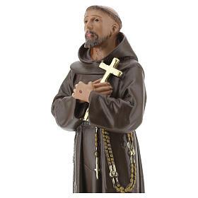 Saint Francis of Assisi statue, 20 cm hand painted plaster Barsanti s2