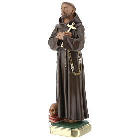 Saint Francis of Assisi statue, 20 cm hand painted plaster Barsanti s3