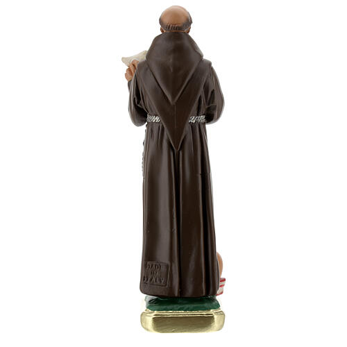 San Francisco de Asís con paloma estatua yeso 20 cm Barsanti 4