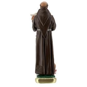San Francesco D'Assisi con colomba statua gesso 20 cm Barsanti s4
