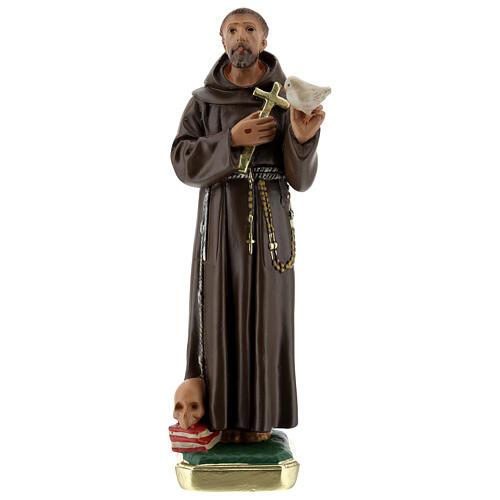 San Francesco D'Assisi con colomba statua gesso 20 cm Barsanti 1