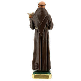 St. Francis of Assisi with dove hand painted plaster statue Arte Barsanti 30 cm s5