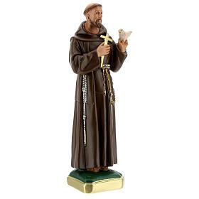 Statue St François d'Assise colombe h 30 cm plâtre Arte Barsanti s4