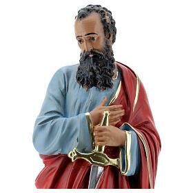 Saint Paul statue plâtre 30 cm peinte à la main Arte Barsanti s2