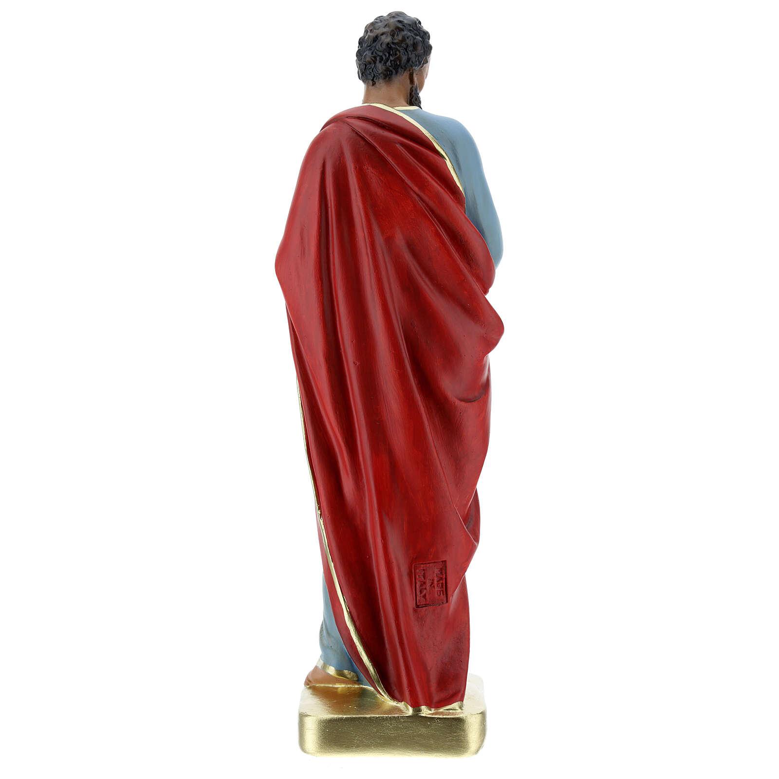 San Paolo statua gesso 30 cm dipinta a mano Arte Barsanti 4