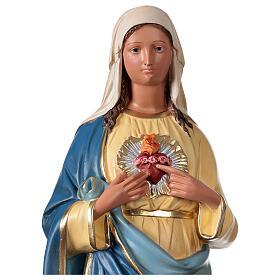 Sagrado Corazón de María estatua yeso 60 cm coloreada mano Arte Barsanti s2