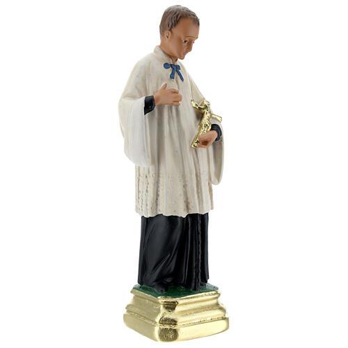 Saint Louis de Gonzague statue plâtre 20 cm Arte Barsanti 3
